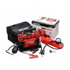 Автомобильный компрессор BELAUTO Буран двухпоршневой 90 л/мин с витым шлангом (BK46)
