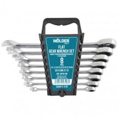 Набор комбинированных ключей MOLDER с трещоткой CR-V 8-19 мм 8 шт (MT56108)