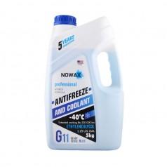 Антифриз NOWAX G11 -40°C синий готовая жидкость 5 кг (NX05002)