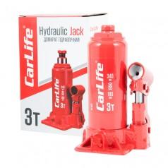 Домкрат бутылочный 3 т 180-340 мм гидравлический CARLIFE (BJ403)