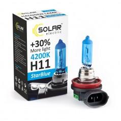 Галогеновая лампа Solar H11 12V 55W PGJ19-2 StarBlue 4200K (1281_H)