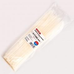 Хомуты пластиковые CARLIFE 4,8x300 мм Белые