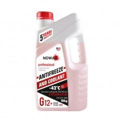 Антифриз NOWAX G12+ -42°C красный готовая жидкость 10 кг (NX10001)