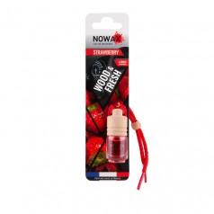 Ароматизатор автомобильный подвесной Nowax Wood&Fresh Strawberry жидкость (NX07712)