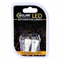 Светодиодные LED автолампы SOLAR Premium Line 12V T10 W2.1x9.5d 7SMD 2835 white блистер 2шт (SL1338)