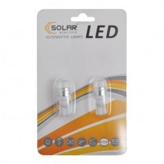 Автолампы светодиодные Solar LED 12V T10 W2.1x9.5d 2SMD 5630 white 2шт (LS290_b2)