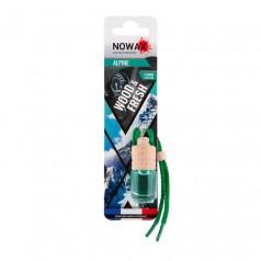 Ароматизатор автомобильный подвесной Nowax Wood&Fresh Alpine жидкость (NX07700)