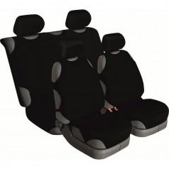 Автомайки универсальные Beltex Cotton 2+2 чёрные без подголовников 13210