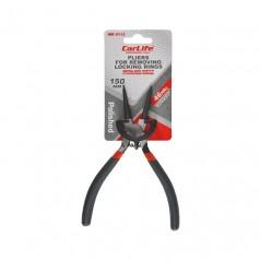 Щипцы для снятия стопорных колец Carlife 150 мм для сжатия выгнутые (WR5113)
