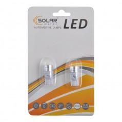 Автолампы светодиодные Solar LED 12V T10 W2.1x9.5d 1SMD 1W white 2шт (LS241_b2)
