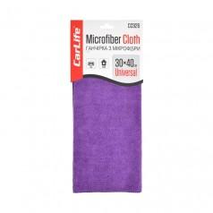 Тряпка из микрофибры 30x40 см фиолетовая CARLIFE (CC926)