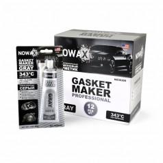 Серый силиконовый герметик прокладок NOWAX Gasket Maker Gray