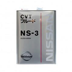 Трансмиссионное масло Nissan CVT NS-3 4 литра KLE53-00004