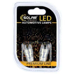 Светодиодные LED автолампы SOLAR Premium Line 12V T10 W2.1x9.5d 2Cree XBD 120lm white блистер 2шт (SL1343)