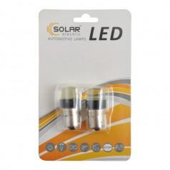 Автолампы светодиодные Solar LED 12V S25 BA15s COB 100lm white 2шт (LC345_b2)