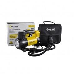Автомобильный компрессор Solar однопоршневой 35 л/мин с фонариком AR206