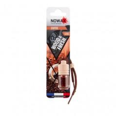 Ароматизатор автомобильный подвесной Nowax Wood&Fresh Coffee жидкость (NX07704)