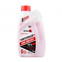 Антифриз NOWAX G12 -42°C красный готовая жидкость 1 кг (NX01006)