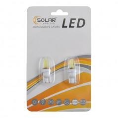 Автолампы светодиодные Solar LED 12-24V T10 W2.1x9.5d COB 1,5W 70lm white 2шт (LC346_b2)