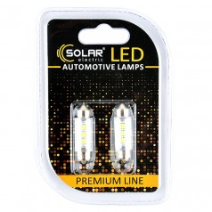Светодиодные LED автолампы SOLAR Premium Line 24V SV8.5 T11x39 6SMD 2835 white блистер 2шт (SL2551)