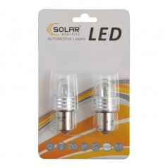 Автолампы светодиодные Solar LED 12-24V S25 BA15s 8SMD 2835 white 2шт (LS296_b2)