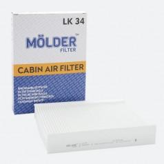 Фильтр салонный MOLDER LK34 (аналог WP9130/LA144/CU2335)