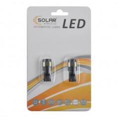 Автолампы светодиодные Solar LED 12V T10 W2.1x9.5d 6SMD 5630 white 2шт (LS286_b2)