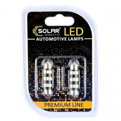 Светодиодные LED автолампы SOLAR Premium Line 12V SV8.5 T11x39 9SMD 2835 CANBUS white блистер 2шт (SL1363)
