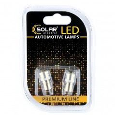 Светодиодные LED автолампы SOLAR Premium Line 12V T8.5 BA9s 1SMD 1W white блистер 2шт (SL1333)