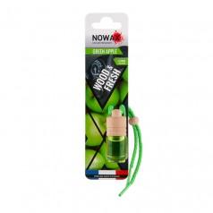 Ароматизатор автомобильный подвесной Nowax Wood&Fresh Green apple жидкость (NX07705)