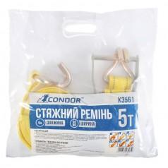 Стяжной ремень 5 т (6 м) CONDOR в пакете (K3561)