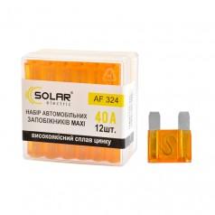 Набор предохранителей MAXI 40А 12шт Solar сплав цинка (AF324)