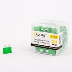 Предохранители стандарт SOLAR AF318 30А 100шт