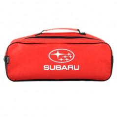 Сумка-органайзер в багажник красная полиэстер BELTEX Subaru (SU28)