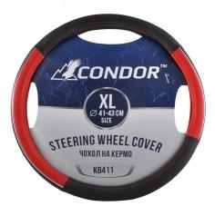 Чехол на руль CONDOR XL (41-43см) черный с красным K6411