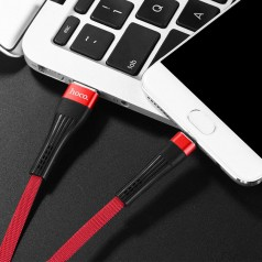 Кабель синхронизации Hoco U39 Slender USB-microUSB 1.2 м (red/black) (U39-m)