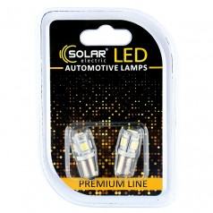 Светодиодные LED автолампы SOLAR Premium Line 12V T8.5 BA9s 5SMD 5050 white блистер 2шт (SL1331)