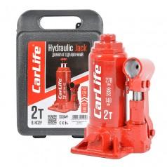Домкрат бутылочный 2 т 148-278 мм гидравлический в кейсе CARLIFE (BJ402P)