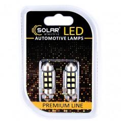 Светодиодные LED автолампы SOLAR Premium Line 12V SV8.5 T11x36 6SMD 2835 CANBUS white блистер 2шт (SL1362)