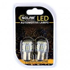 Светодиодные LED автолампы SOLAR Premium Line 12V S25 BAY15d 50SMD 3030 white блистер 2шт (SL1386)