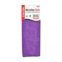 Тряпка из микрофибры 30x30 см фиолетовая CARLIFE (CC927)
