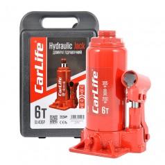 Домкрат бутылочный 6 т 200-385 мм гидравлический в кейсе CARLIFE (BJ406P)