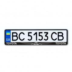 Рамка номера CarLife для Toyota черный пластик (NH192)