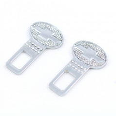 Заглушки металлические со стразами crystal_Chevrolet
