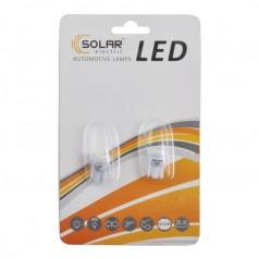 Автолампы светодиодные Solar LED 12V T10 W2.1x9.5d 1SMD 5050 white 2шт (LS245_b2)