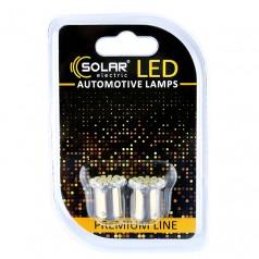 Светодиодные LED автолампы SOLAR Premium Line 12V G18.5 BA15s 22SMD 3020 white блистер 2шт (SL1381)