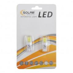 Автолампы светодиодные Solar LED 12V T10 W2.1x9.5d COB 70lm white 2шт (LC344_b2)