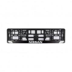 Рамка номера CarLife для Nissan черный пластик (NH042)