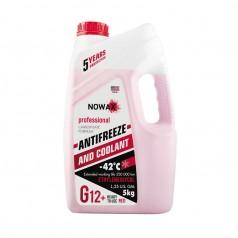 Антифриз NOWAX G12 -42°C красный готовая жидкость 5 кг (NX05001)