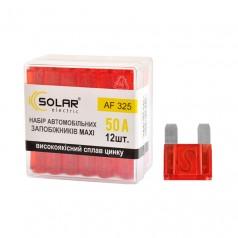 Набор предохранителей MAXI 50А 12шт Solar сплав цинка (AF325)